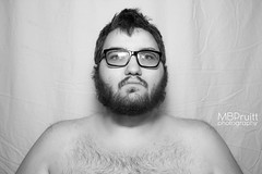 (MBPruitt) Tags: bear white black sexy photography cub chub mb blackandwhitephotography pruitt