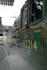 Getting ready to go (Neil Pulling) Tags: railway steam loughborough steamlocomotive greatcentralrailway gcr 9f 92214 brstandardclass9f brstandardclass9f92214