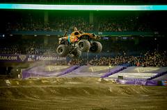 Lots of Air (_Matt_T_) Tags: truck flying freestyle pentax tires dirt entertainment scoobydoo yeehaw monsterjam smcpda18135mmf3556edalifdcwr k5iis
