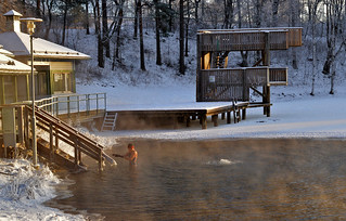 Ice swimming. -23°C. Who wants to go swimming? :-)