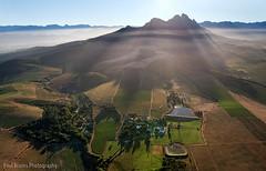 Simonsberg Rays (Panorama Paul) Tags: southafrica aerialphotography westerncape simonsbergmountain nikkorlenses nikfilters nikond800 wwwpaulbruinscoza paulbruinsphotography uitkykwineestate