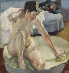 In the Bath II, 1911 // by Leo Putz (mike catalonian) Tags: portrait painting fulllength 1910s 1911 leoputz
