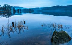 Bouys in blue (rgcxyz35) Tags: mist mountains scotland trossachs bouys lochs lochard