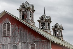 Cupolas (Notkalvin) Tags: old roof ohio barn outdoor farm farming structure cupola weathered slate redbarn oldbarn cupolas mikekline notkalvin notkalvinphotography