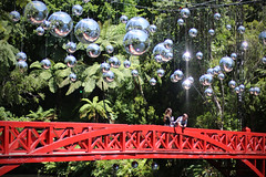 Mirror-Ballistic (Paul J's) Tags: park landscape installation mirrorball discoball taranaki newplymouth pukekurapark poetsbridge