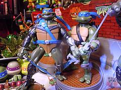 """Nickelodeon """"HISTORY OF TEENAGE MUTANT NINJA TURTLES"""" FEATURING LEONARDO -  TMNT 2k3 LEONARDO vi / ..with FAST FORWARD LEO '06  (( 2015 )) (tOkKa) Tags: mysticfurytmnt mysticfuryleo nickelodeon tmnt toontmnt toonleo 1993 teenagemutantninjaturtles historyofteenagemutantninjaturtlesfeaturingleonardo toys figures leonardo 2015 displaystand playmatestoys toysrus toysrusexclusive varnerstudios moviestartmnt ninjaturtlesthenextmutation 4kidstmnt tmnt2003 tmntmovie4 paramountsteenagemutantninjaturtles 2007 1992 1988 2006 2005 2014 2012 tmntfastforward paramountteenagemutantninjaturtles tmnt2014movie eastmanandlairdsteenagemutantninjaturtles comic turtlemilkstudios davearshawsky imagesrctokkaterrible2zcom"""