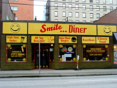 Smile Diner (knightbefore_99) Tags: city food canada west smile vancouver work lunch restaurant coast cool bc burger chinese diner fries gastown pender