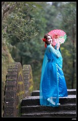 DP1U9485 (c0466art) Tags: old light portrait cute classic girl umbrella canon pose temple photography pretty place action outdoor quality gorgeous chinese taiwan sword lovely cloth charming elegant activity society pure keelung tranditional 1dx c0466art 詹均雅