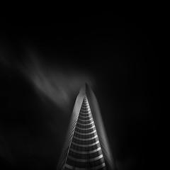 Spike (Michael Diblicek) Tags: blackandwhite white black paris tower architecture skyscraper square photography grey fineart gray ladefense squareformat fineartphotography blackandwhitephotography edftower