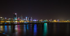 South Perth jetty (hoomanz) Tags: night reflections river swan long exposure jetty
