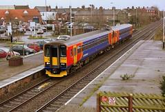 Double Bubble at Spalding (Chris Baines) Tags: platform class east lincoln service bi peterborough midlands 153 units spalding directional