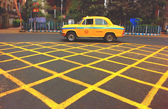 Yelloworld (MONOJIT PHOTOGRAPHY) Tags: road street city morning travel india abstract color colour heritage yellow cityscape artistic outdoor candid taxi streetphotography streetscene kolkata bengal calcutta westbengal parkstreet