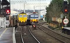 66559 + 59104 passing Reading West (dan warman1) Tags: trains passing hanson 2016 freightliner class66 diesellocomotives class59 59104 66559 readingwest