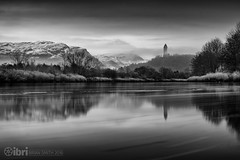 Low (delphwynd) Tags: longexposure winter snow reflection stirling tuesday wallacemonument riverforth ndfilter dumyat ochilhills raploch ndx400 bigstopper kildean