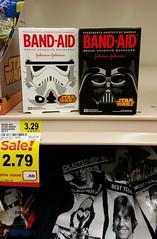 Star Wars Band-aids_20160115_153950c (Wampa-One) Tags: blackandwhite retail starwars stormtrooper packaging darthvader bandaid bandages