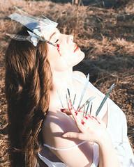 The Shattering (PrideOfTheLilacs) Tags: portrait selfportrait dark pain blood magick sad surrealism magic fineart surreal change crown conceptual magical selfportraiture fineartphotography crowns