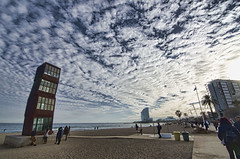 Barcelona.- (ancama_99(toni)) Tags: barcelona tower clouds nikon tokina cielo barceloneta 1000views 2016 10favs 10faves 25favs 25faves 1116mm d7000 nbes