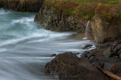 Converge (Bob Bowman Photography) Tags: ocean california longexposure winter sea seascape beach water northerncalifornia rock landscape waterfall nikon waves pacific outdoor cliffs serene mendocino