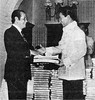 Former President Diosdado Macapagal headed the 1971 Constitutional Convention that produced the 1973 Constitution. He is seen here with President Ferdinand E. Marcos. (Presidential Museum and Library) Tags: martiallaw