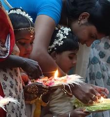 religious girl (claradorey88) Tags: india girl festival temple offerings
