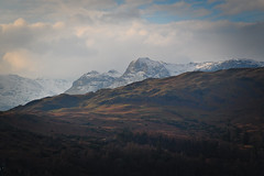 Catching the light (mark_airey - need more hours in the day!) Tags: light sky snow mountains sunshine walking outdoors countryside nikon scenery hiking lakedistrict hills tokina cumbria 28 peaks ambleside loughrigg 2880 d7000