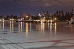 Rideau Canal Skateway (beyondhue) Tags: winter ontario canada reflection ice night canal ottawa rideau lansdowne skateway beyondhue