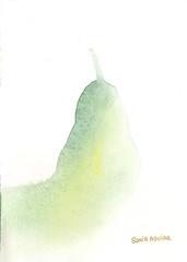 Pear watercolor -7 Original watercolor by Sonia Aguiar. (Sonia Aguiar (Mallorca)) Tags: stilllife watercolor wallart bodegn pear watercolour aquarell pera soniaaguiar pearpainting pearstilllife pearwatercolor acuareladepera