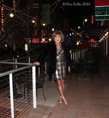 Bright Lights... (Miss Kellie Keene) Tags: woman sexy stockings beautiful lady silver fur necklace legs sandals smooth tan jewelry transgender kansascity bracelet hosiery earrings brunette elegant silky stylish strappy eleganti misskellie
