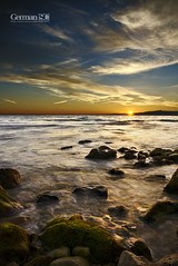 Tones of orange (German SC) Tags: longexposure autumn sea sky water clouds landscape mar spain mediterranean silk cel natura catalonia catalunya seda aigua salou posta tardor nuvols paisatge mediterrani tamron1750f28 llargaexposici atravsdelvisor sonyalphadslta65 germansc