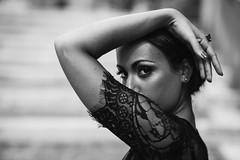 Black Sicily (la_cla25) Tags: light portrait blackandwhite italy woman black sexy girl beautiful beauty donna eyes italian mediterranean bokeh lace sensual occhi sicily ritratto luce sicilia biancoenero ragazza pizzo sensuale