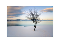 Winter solitude IV (Christos Andronis) Tags: winter light sunset lake snow water mystery clouds solitude quiet meditation softlight contemplation landscapephotography χιόνι γαλήνη χειμώνασ