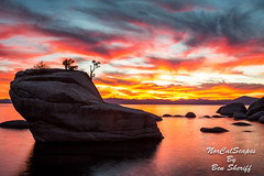 Bonsai's Close Up (Ben Sheriff Photography) Tags: sunset clouds landscape nevada tahoe laketahoe alpine sierras sierranevadamountains sandharbor bonsairock