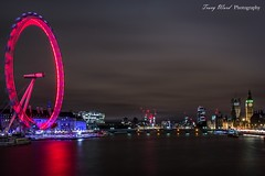 London Eye (Tracy Ward Photography) Tags: light red london eye westminster thames night dawn big cola ben dusk south low lion bank british airways coca