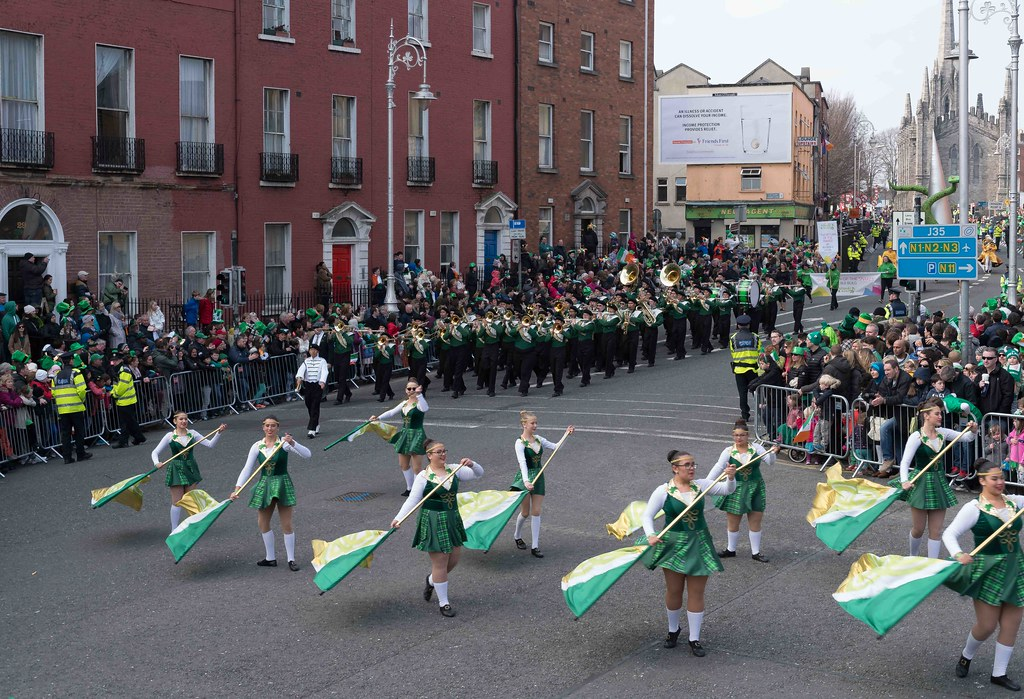 John F. Kennedy High School (Shamrock Regiment), California [St. Patrick's Parade 2016]-112643