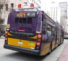 King County Metro 2015 New Flyer XT60 4501 (zargoman) Tags: seattle county travel bus electric king metro trolley transportation transit articulated kiepe elektrik kingcountymetro newflyer lowfloor xcelsior