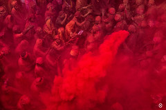 'Red Planet' (subodh shetty) Tags: travel people colors festival photography nikon dubai god vibrant religion perspective culture documentary vivid places lord devotion nikkor krishna holi prayers barsana brij shetty mathura vrindavan bhoomi subodh sabha nandgaon nikonasia beleifs iamnikkor nikonmea