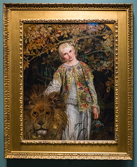 Una and the Lion by Willaim Bell Scott, 1860 (Serendigity) Tags: uk art museum painting scotland edinburgh artgallery unitedkingdom 19thcentury preraphaelite scottishnationalgallery