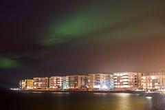(robwiddowson) Tags: nightphotography lights iceland harbour aurora northern northernlights auroraborealis borealis hafnarfjordur vikingvillage