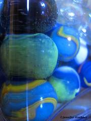 Marbles (jenn.kuehner) Tags: blue green art water vase marbles