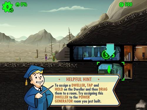 Fallout Shelter Tutorial: screenshots, UI
