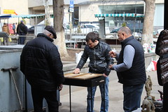 Backgammon (K. Sakulku) Tags: playing gambling game men market armenia boardgame vernissage yerevan gamble backgammon
