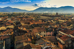 Lucca in sunlight (Arutemu) Tags: street city italien urban italy panorama streets canon observation europe italia european cityscape view eu ciudad lucca panoramic medieval tuscany vista toscana renaissance birdseyeview ville  6d  28300         tamron28300  eos6d   canon6d