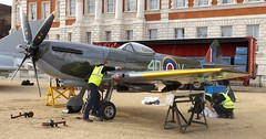 preparations for wing,s removal 02 04 2016 (philipbisset275) Tags: unitedkingdom wing s removal preparations centrallondon horseguardsparade cityofwestminster englandgreatbritain 02042016 returnjounreytorafhendon