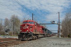 CSXT K602 @ Oxford Valley, PA (Darryl Rule's Photography) Tags: sun train reading spring pennsylvania trains pa oil april canadianpacific cp ge freight buckscounty westbound csx ethanol cefx tankcars csxt readingrailroad townshiplinerd cptl oiltrain k602 oiltrains trentonsub