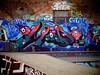 Graffiti, Mile End Skate Park (firstnameunknown) Tags: urban streetart london art graffiti mural skatepark mileend camerabag eastlondon camerabag2