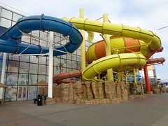 Water Slides swimming pool rides. (j.a.sanderson) Tags: architecture swimmingpool waterslide seasideattraction sandcastlewaterpark