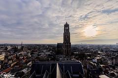 Utrecht Panorama (SkyBlue Photography Pro) Tags: sunset panorama utrecht domtoren toren dom skyview buurkerk jansker