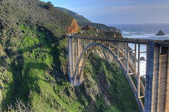 Golden Arches (KC Mike D.) Tags: ocean california bridge sea cliff water architecture concrete coast waves arch pacific bigsur arches pch highway1 coastline passage bixby reinforced pacificcoasthighway openspandrel