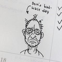 Dons bad-hair day (Don Moyer) Tags: hair brushpen donmoyer