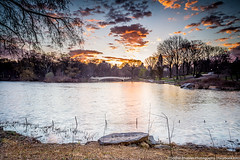 Bow Bridge Sunrise (Sodrul Bhuiyan) Tags: morning lake water sunrise landscape ngc bowbridge centralparkwest canoneos6d
